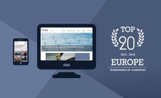 Webranking Europe a Top 20 honlap közé rangsorolta a Prysmian Csoport új honlapját.